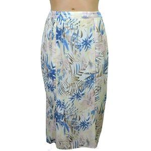 Vintage classic floral maxi skirt size 14 Large